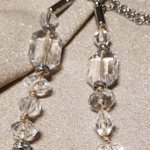 LOFT Jewelry - Loft Long Necklace w/ Silver and Clear Beads